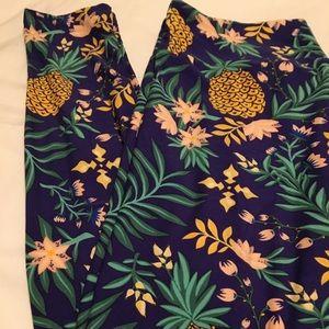 LuLaRoe TC leggings Pineapple
